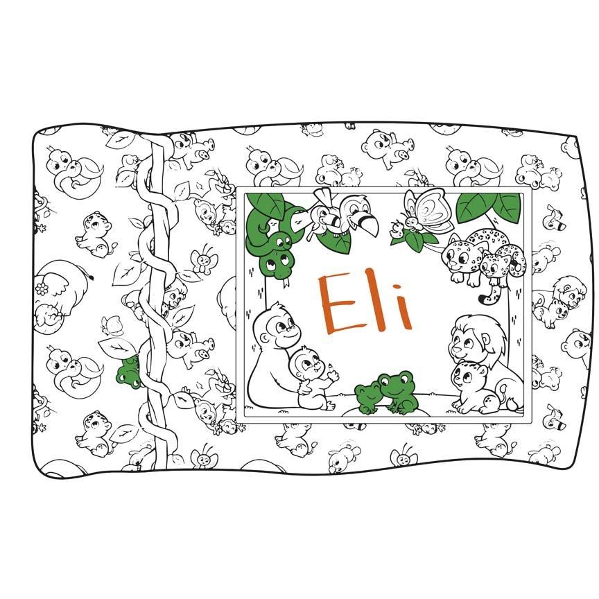 Jungle Pillowcase Coloring Panel