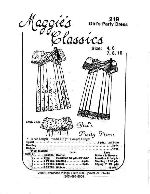 Girls Party Dress with CrissCross Yoke 219