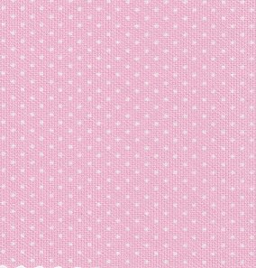 Pink Pique with White Dots