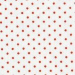 White Pique with Red Dots