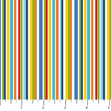 Big Bang- Plain Pinstripe White Multi
