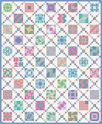 Posies Puzzle Quilt Kit