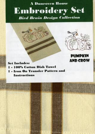 Pumpkin and Crow Towel Embroidery Set