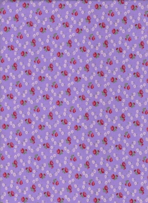 Wilmington 30'S Reproduction Purple Roses
