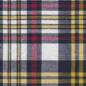 Madras Plaid navy yellow and red