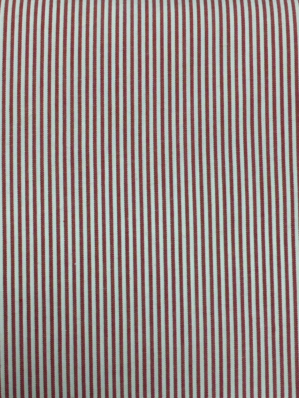 Red and White Stripe Shirting