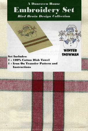 Winter Snowman Towel Embroidery Set