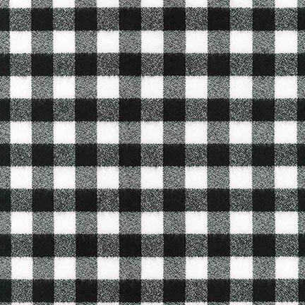 Mammoth Flannel in Black and White Check SRKF-16944-1