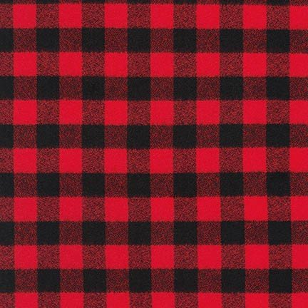 Mammoth Flannel in Black and Red Check SRKF-16944-3