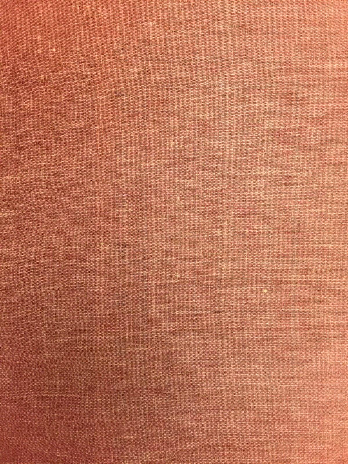 Terra Cotta Linen/Silk blend