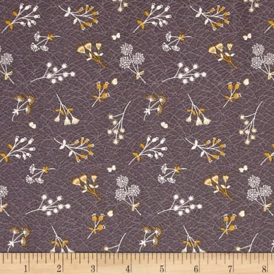 The Hedgerow- Tossed Sprigs Grey/Purple