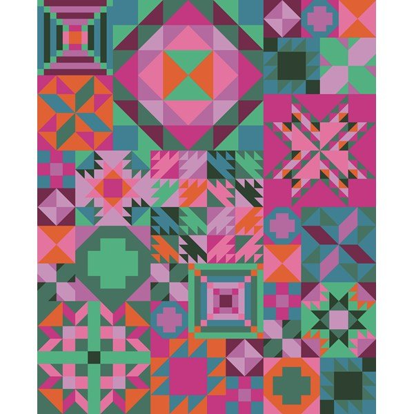 My Favorite Color is Moda Tropical Getaway Sampler Quilt Kit