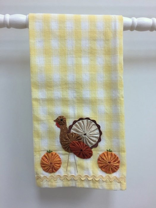 Turkey and Pumpkins Tea Towel Kit