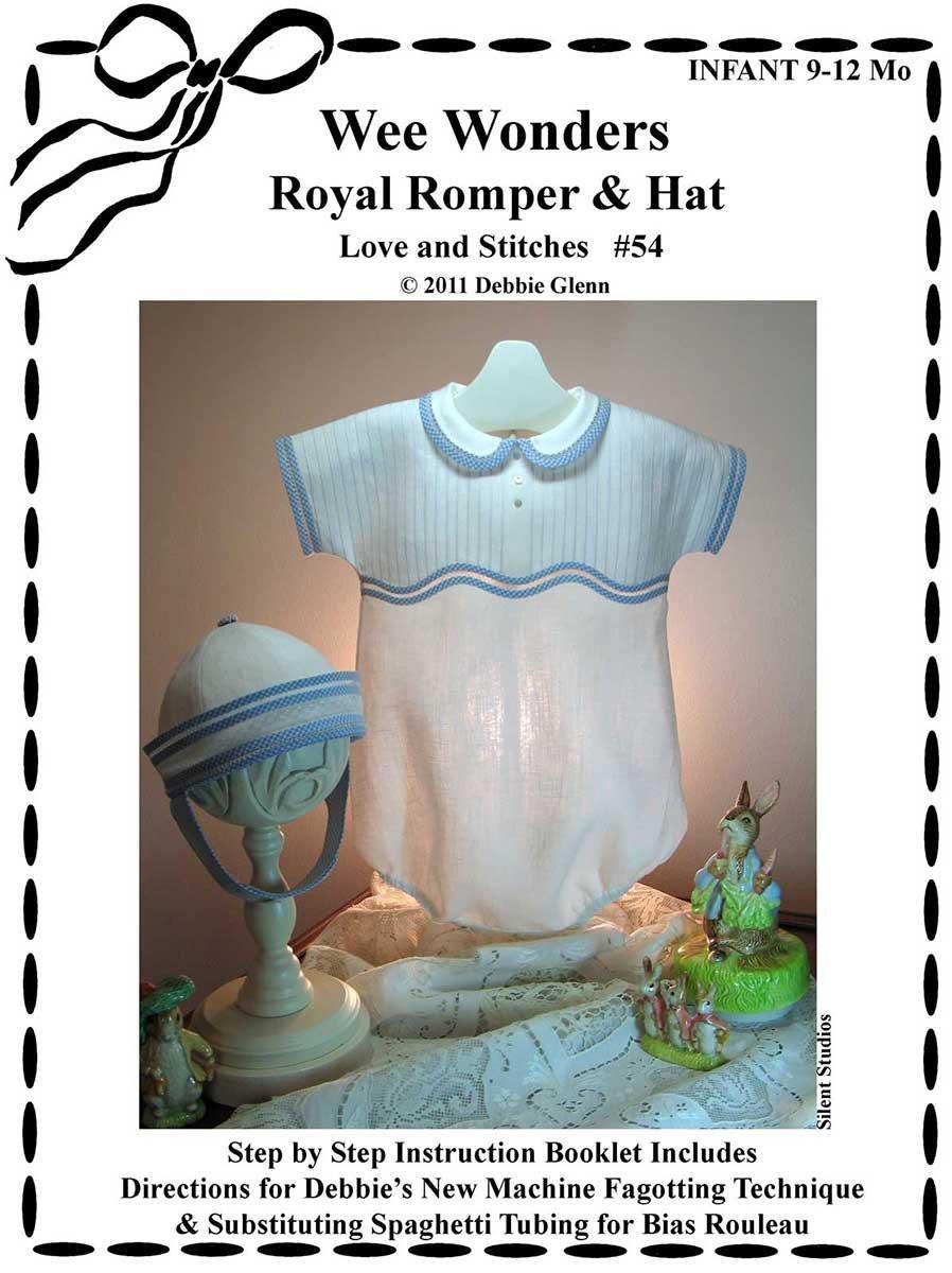 Wee Wonders Royal Romper & Hat