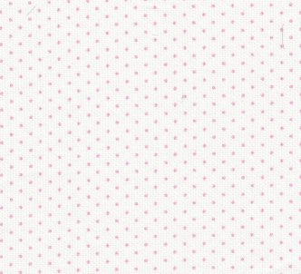 White pique with pink dots