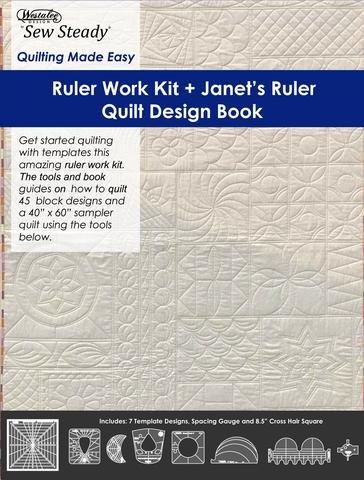 Ruler Work Kit +Janet's Ruler Quilt Design Book for Long Arm