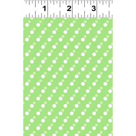 Janey White Dots on Light Green Y2703-20