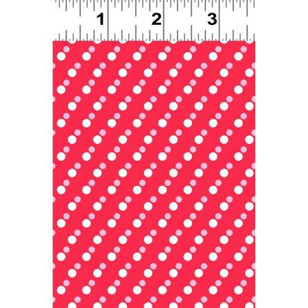 Janey White Dots on Light Red Y2703-4