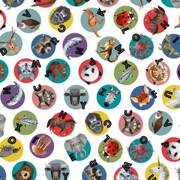Zookeeper Multicolored Alphabet