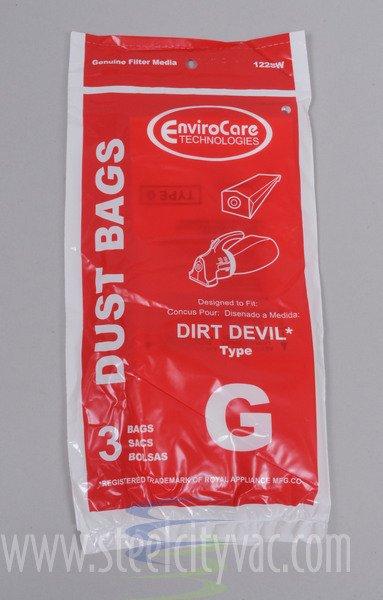 Dirt Devil Type G Vacuum Bags by EnviroCare