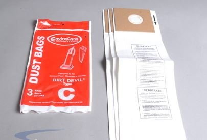 Dirt Devil Type C Vacuum Bags by EnviroCare