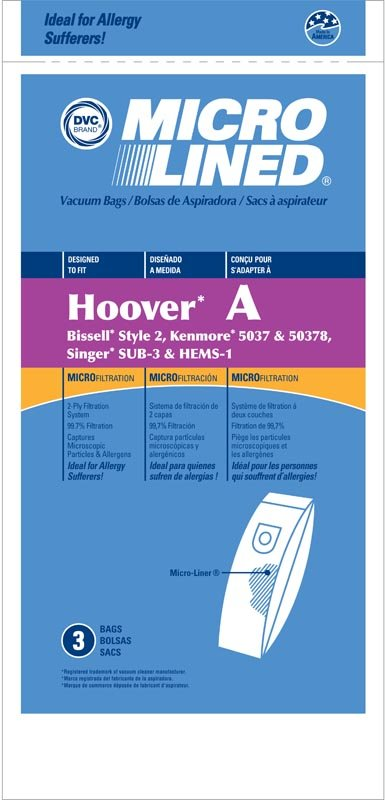 Hoover Type A Vacuum Bags by DVC