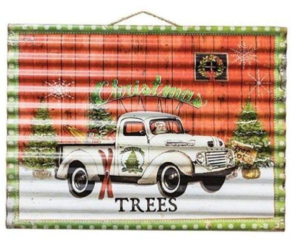 Christmas Tree Corrugated Sign