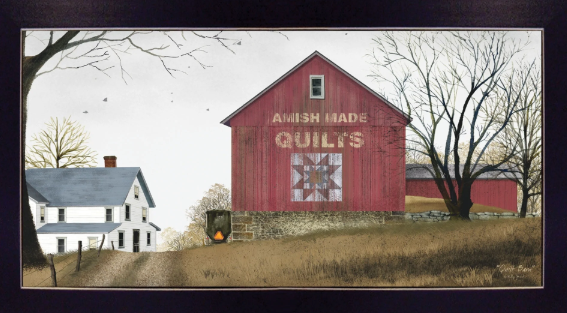 Amish Quilts Framed Print