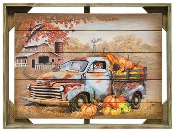 Autumn Truck Framed Wall Art