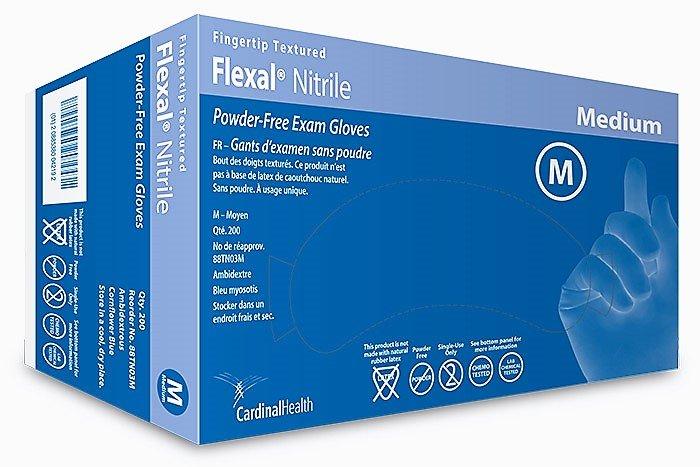 CARDINAL FlexalFeel Nitrile Exam Gloves MD