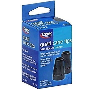 CAREX Quad Cane Tips 5/8
