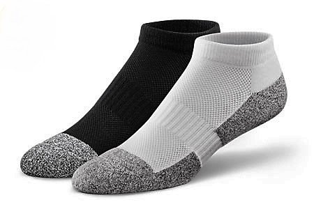 DrCOMFORT Women's Diabetic Ankle Socks WHT SM