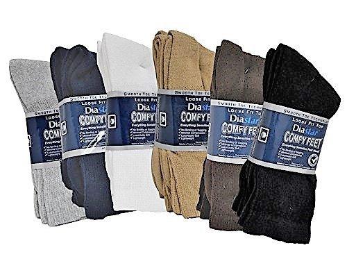 DIASTAR Comfy Feet Socks GRY 9-11