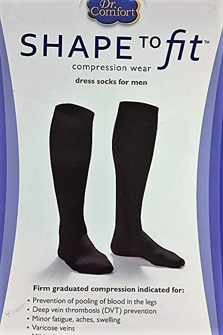 86f08a72035 DrCOMFORT Men s Dress Socks BLK SM - 8133890149848