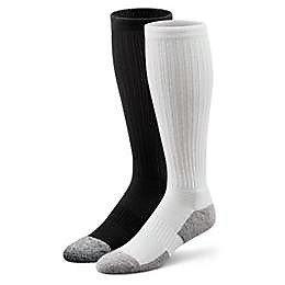 DrCOMFORT Women's Diabetic Calf Socks WHT MD
