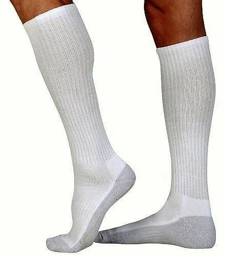 JUZO Silver Sole Socks WHT LG