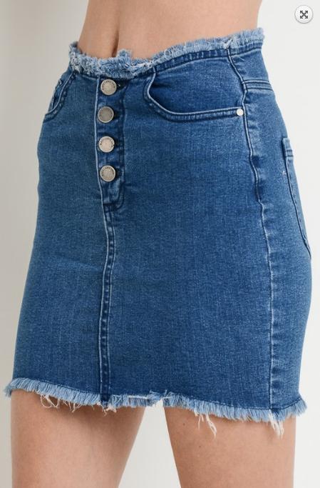 Nutcracker Buttoned Skirt