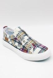 Play Ivy League Plaid Shoe - Cream