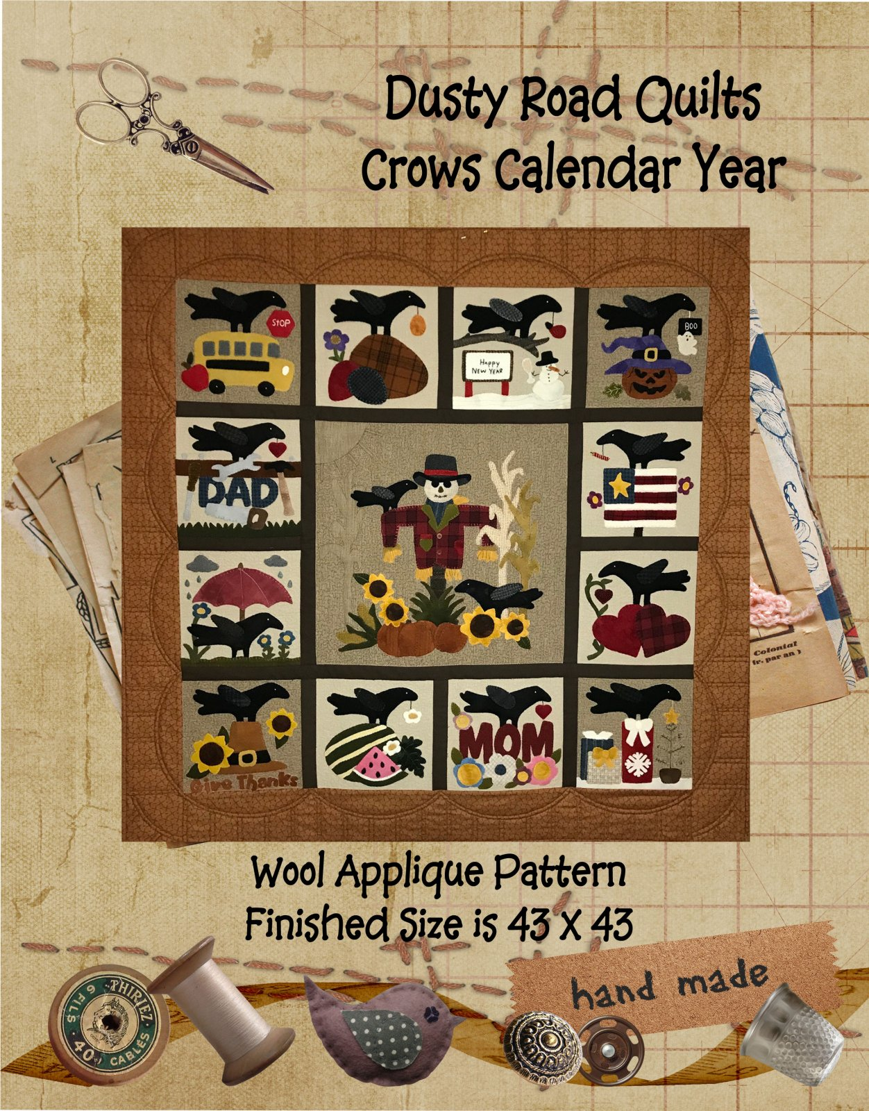 Crows Calendar Year Pattern Only