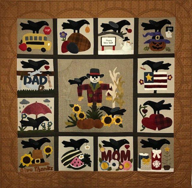 Crows Calendar Year Pattern & Kit