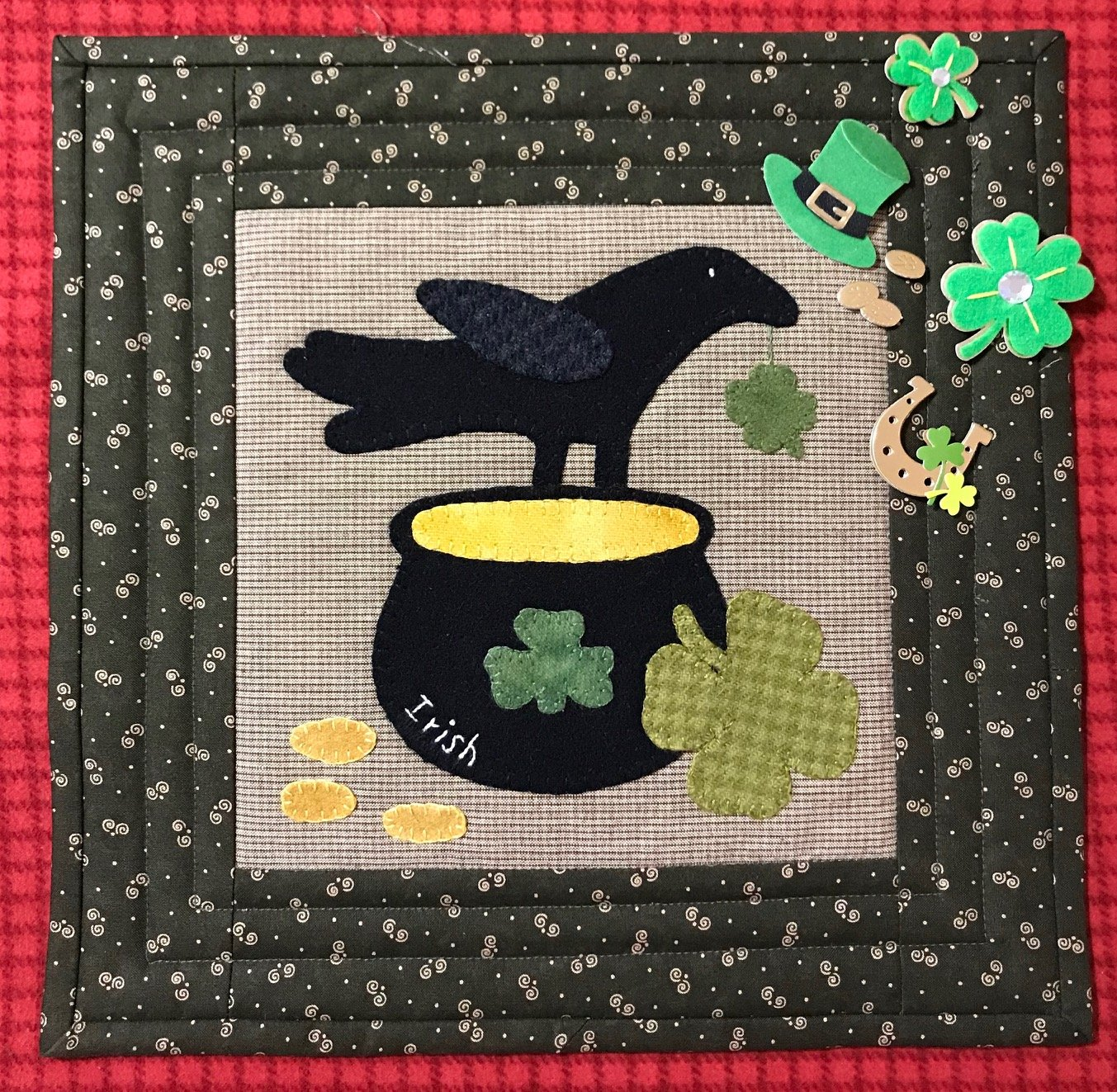 Crows Luck of the Irish Pattern & Kit