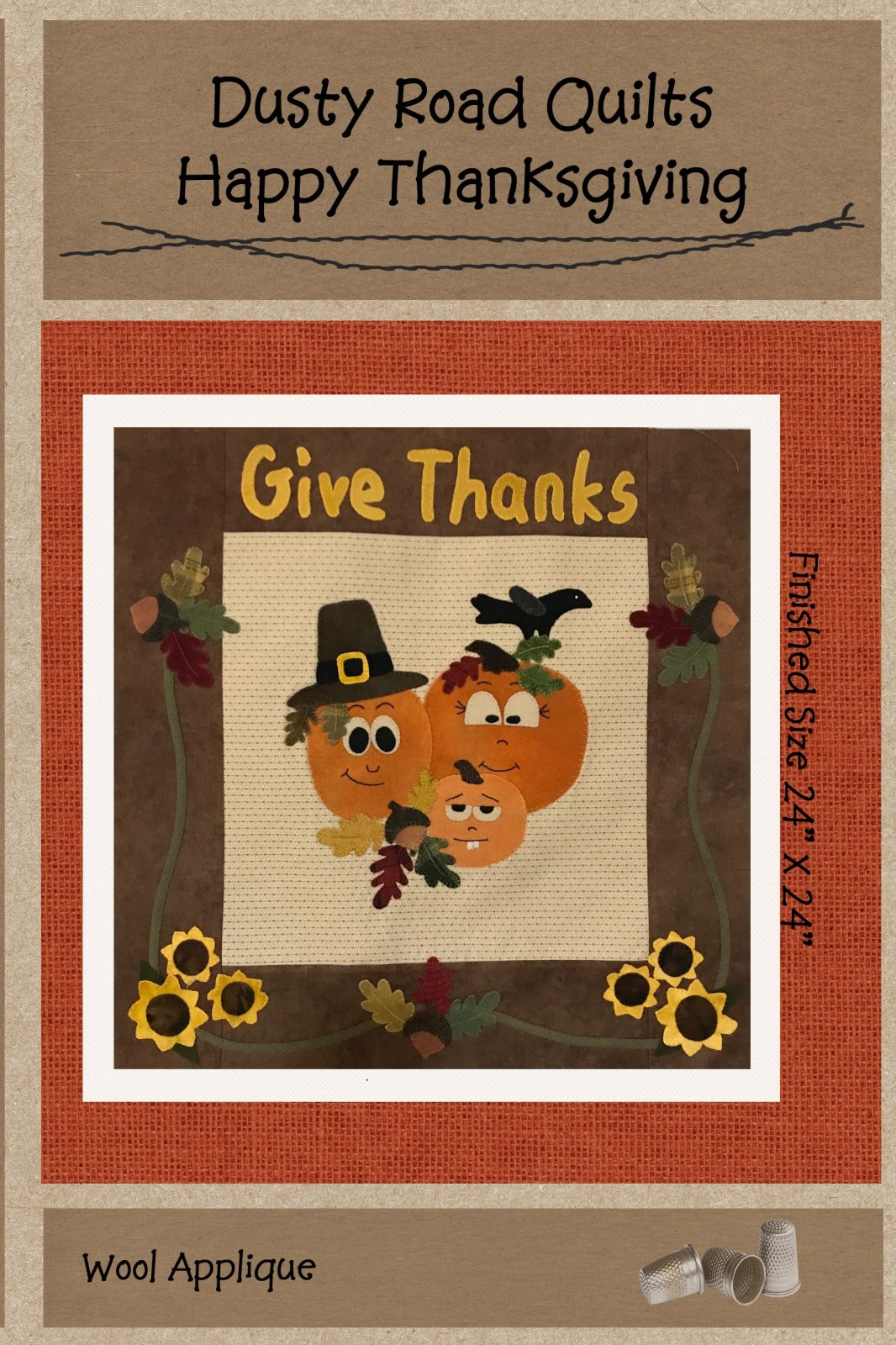 Happy Thanksgiving Pattern Only