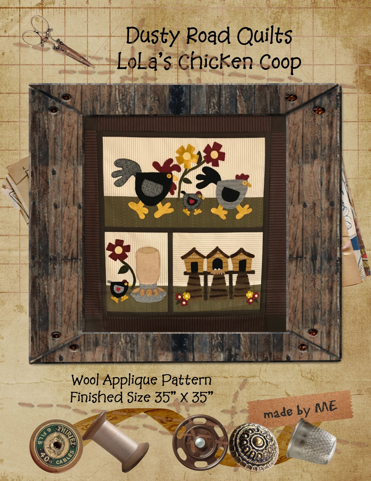 LoLa's Chicken Coop Pattern Only