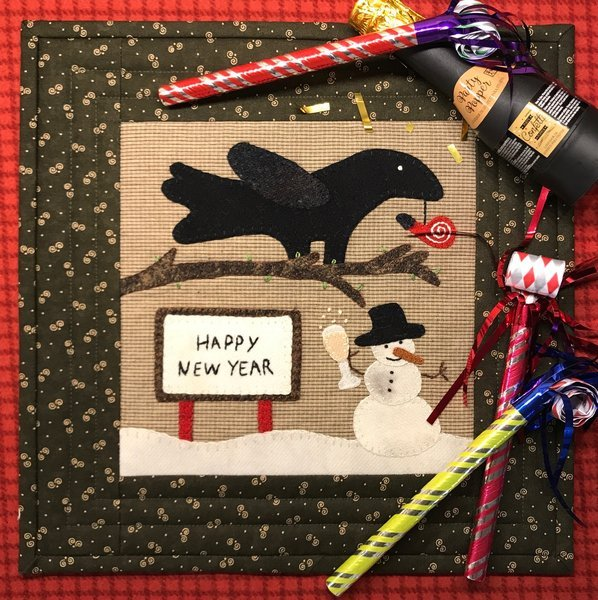 Crows New Year Pattern & Kit