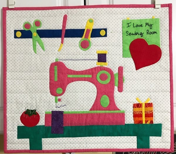 I Love My Sewing Room Hand Applique Pattern Only