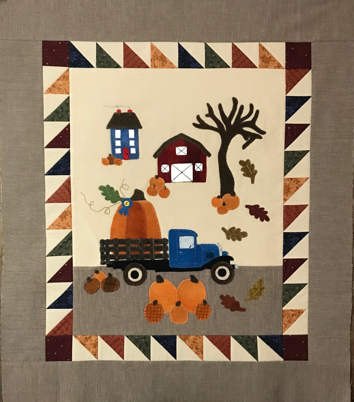 Blue Ribbon Pumpkin Pattern