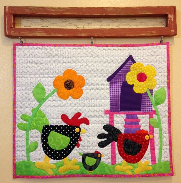 Stru'n and a Cluck'n Hand Applique Pattern Only