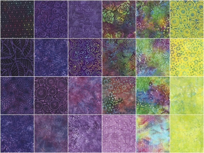 Ultra Violet Batiks Jelly Roll