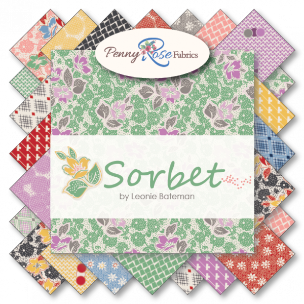 SORBET  ROLLIE POLLIE 42 PIECES JELLY ROLL