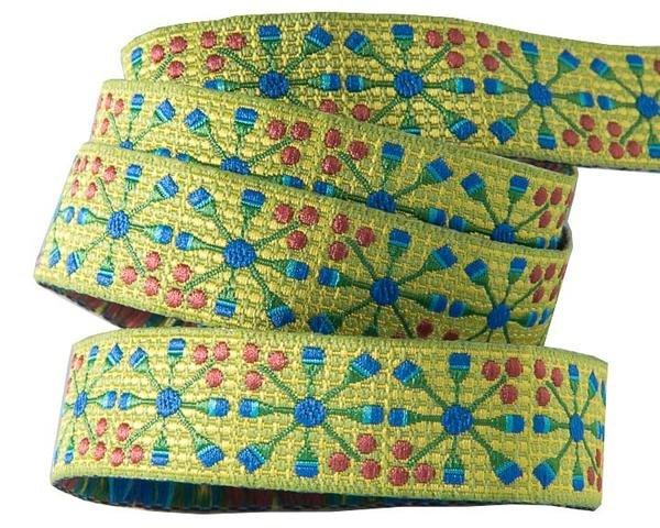 Ribbon Blue Flower Wheel 5/8